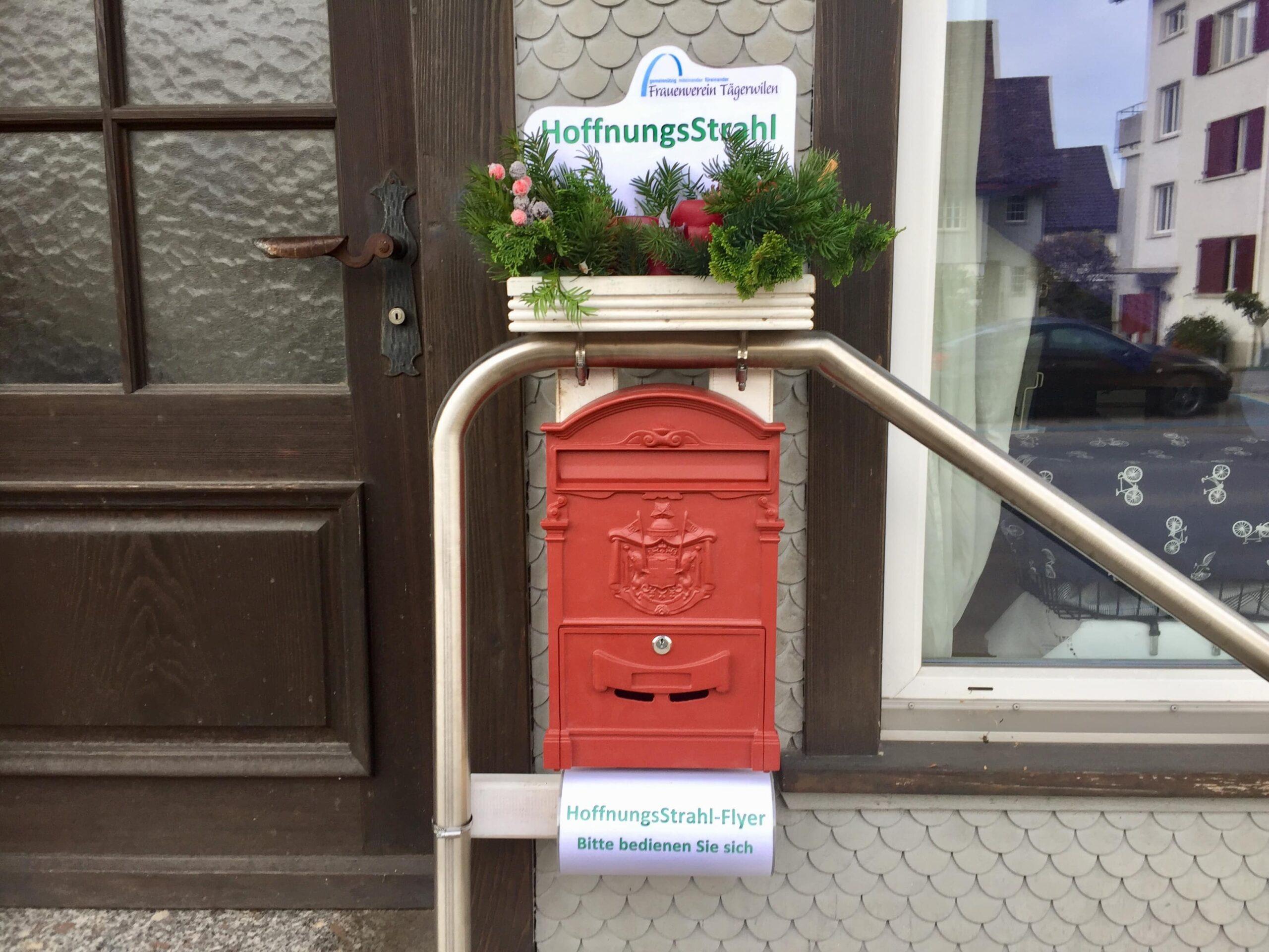 Hoffnugnsstrahl Briefkasten Frauenverein